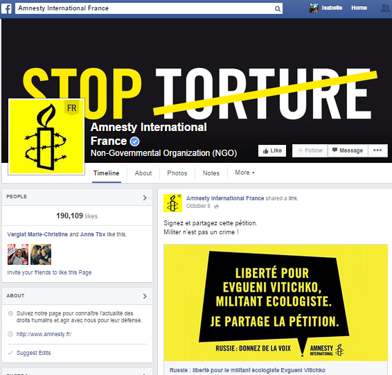 Facebook amnesty international