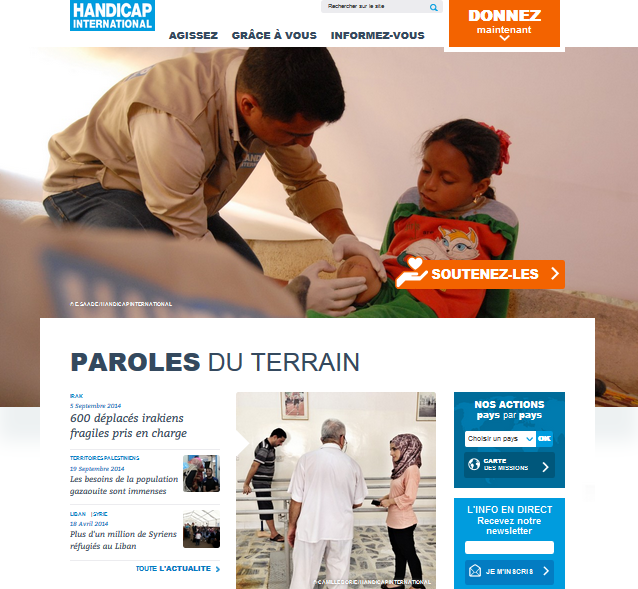 Handicap International content marketing