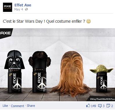 page Facebook Axe