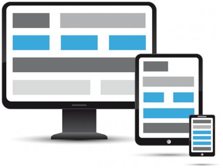 Responsive design agencement de blocs